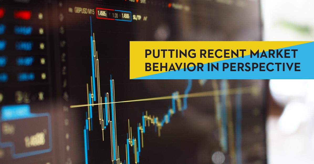 Putting Recent Market Behavior in Perspective